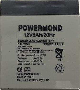 Μπαταρία 12V/5AΗ POWERMOND Επαναφορτιζόμενη μολύβδου