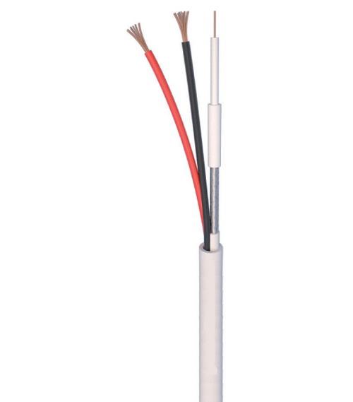 ANGA ST-CC01 Καλώδιο CCTV 1 x mini RG59 + 2 x 0.50mm (500μ) CU/PVC