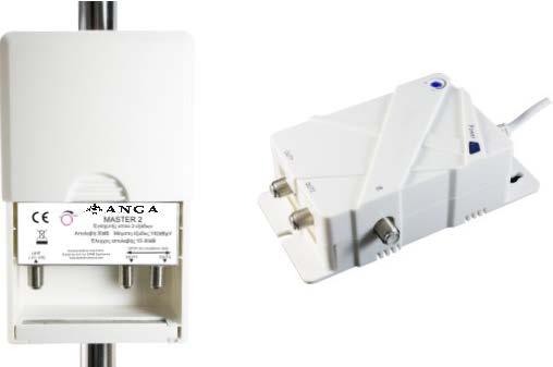 Master 2 Ενισχυτής ANGA Μίας εισόδου UHF 30dB/102dBμV & Δύο εξόδων 4G LTE Ρυθμιζόμενος