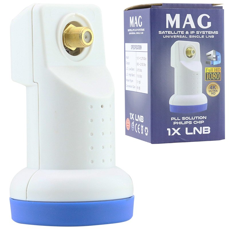 MAG LNB SINGLE 0.1dB 1080 FULL HD 4K