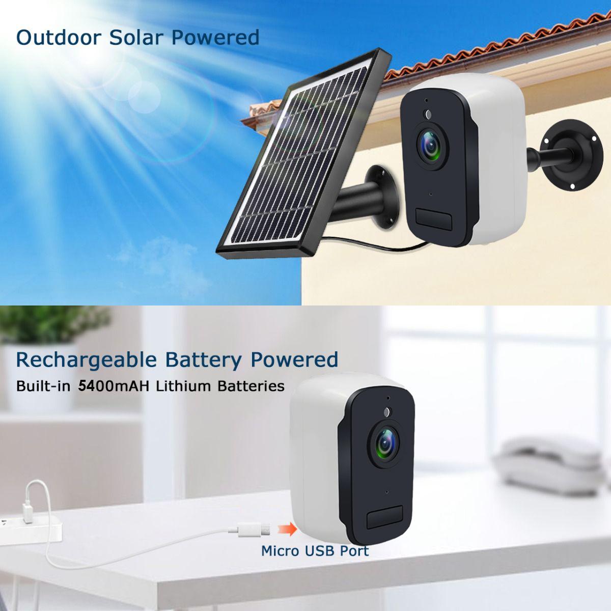 Κάμερα ANGA AQ-8105ISW IP Wi Fi 2.0 MP Wireless battery + solar panel με εφαρμογή CamHi