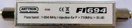 ANTTRON FΙ694 LTE 5G Blocking Filter Pass band 1-694MHz εως 48 κανάλι ΕΣΩΤΕΡΙΚΟΥ ΧΩΡΟΥ