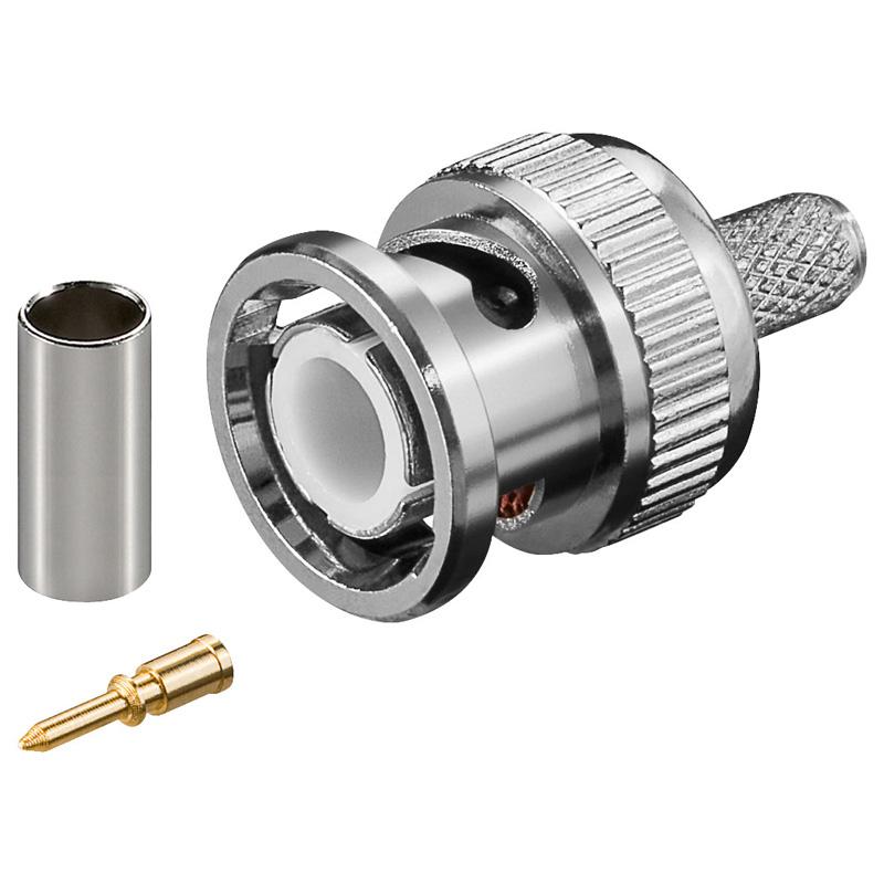 BNC αρσενικό ΠΡΕΣΣΑΣ για καλώδιο RG58 / 5mm / 50Ω