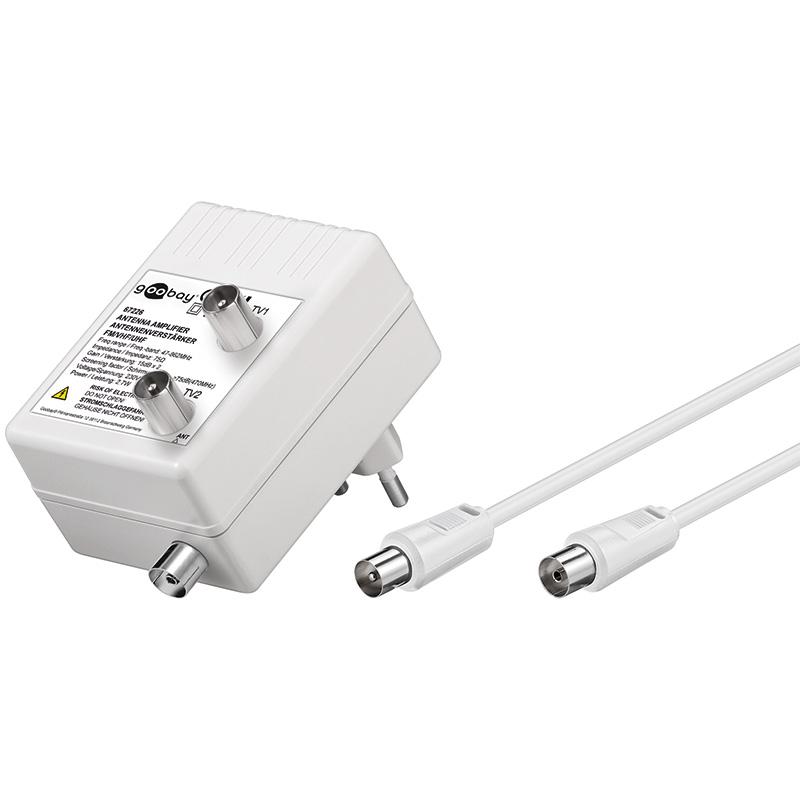 Ενισχυτής γραμμής TV ενίσχυση 15dB 47-862MHz με δύο εξόδους