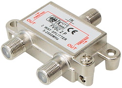 FVSC2PL Splitter 1/2 Εξόδων Με διέλευση τάσης