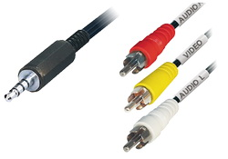 3,5mm 4-Pin, σε 3 RCA stereo 1.5μ για Panasonic & PowerPlus