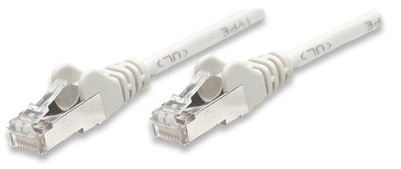 F/UTP CAT6e Patch Cable Straight Λευκό 20μ CCA
