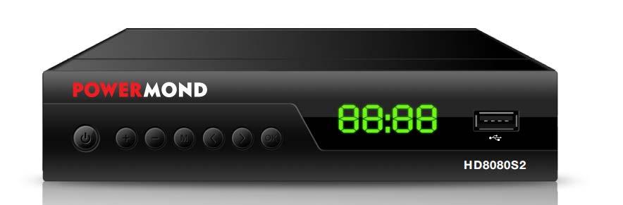 ΔΟΡΥΦΟΡΙΚΟΣ ΔΕΚΤΗΣ POWERMOND HD8080S2 HD FTA, HDMI, USB