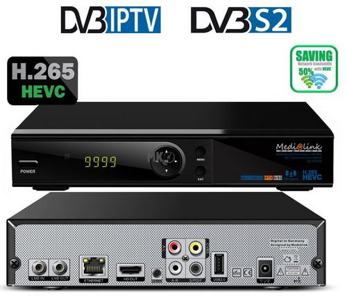 Medialink Smart Home ML6200S HEVC IP & Δορυφορικός Δέκτης 1CA