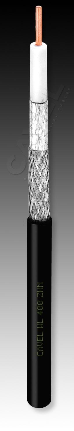 CAVEL WL400ZHN 50Ω (100m) - ΔΙΑΜΕΤΡΟΣ 10,30 mm, ΑΓΩΓΟΣ 2,70 mm, ΚΑΘΑΡΟΣ ΧΑΛΚΟΣ