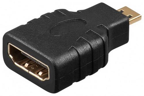 Adapter HDMI (D) Micro αρσενικό σε HDMI (A) θηλυκό