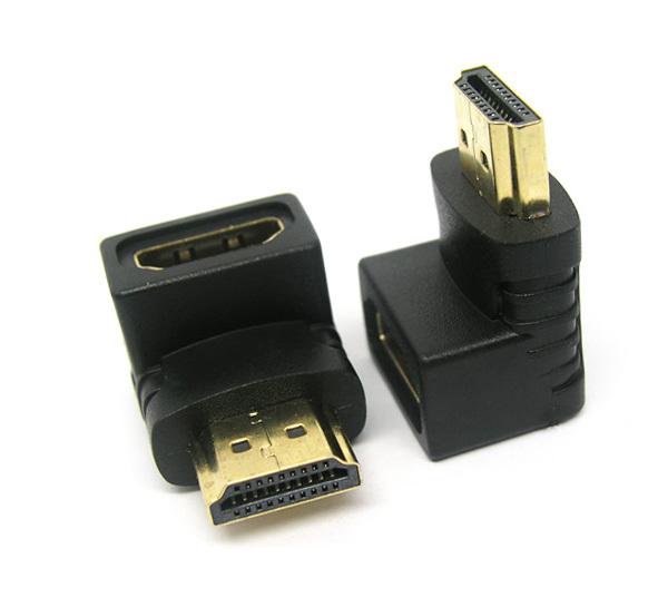 Adapter CHA-011 HDMI (A) αρσενικό σε HDMI (A) θηλυκό 90 μοίρες