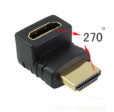 Adapter CHA-012 HDMI (A) αρσενικό σε HDMI (A) θηλυκό 270 μοίρες
