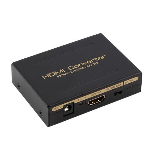 ANGA CHM-A3 Adapter HDMI in και HDMI out με έξοδο Ήχου RCA & Toslink {Κλέφτης} Ιδανικό για να πάρετε έξοδο ήχου από συσκευές με έξοδο HDMI που δεν έχουν (δεν περιλαμβάνει τροφοδοτικό 5V/1A)