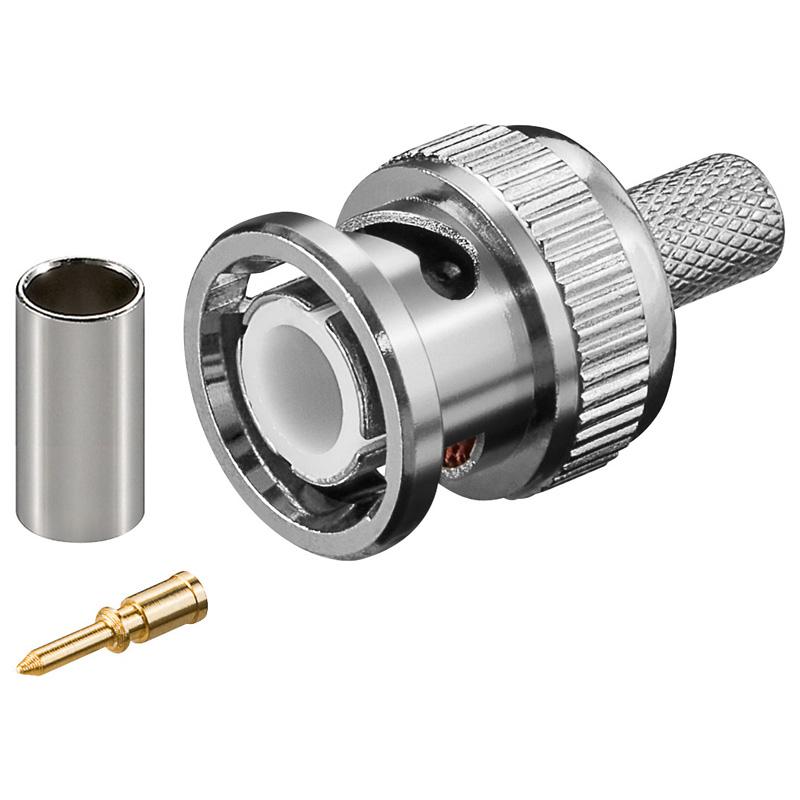 ANGA BNC αρσενικό ΠΡΕΣΣΑΣ για καλώδιο RG59 / 6mm / 75Ω