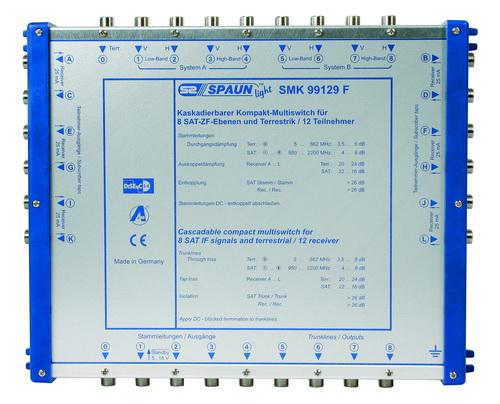 842409 SPAUN SMK99129F Επέκταση για 2 Δορυφόρους + Επίγειο με 12 εξόδους