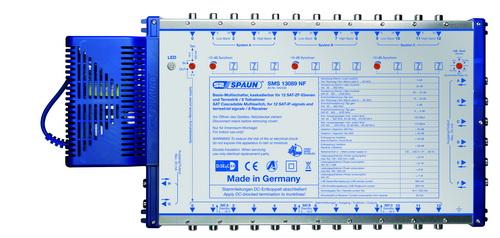 842430 SPAUN SMS13089NF Πολυδιακόπτης επεκτάσιμος 3 Δορυφόροι + Επίγειο σε 8 εξόδους