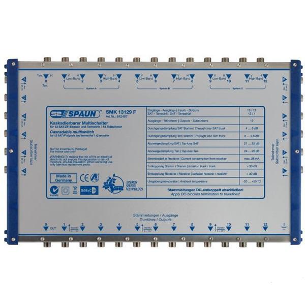 842467 SPAUN SMK13129F Επεκτάσεις Εξόδων για 3 Δορυφόρους + Επίγειο με 12 εξόδους