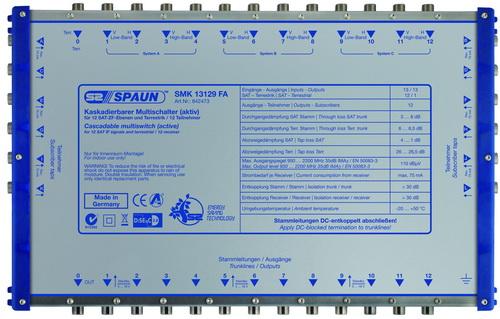 842473 SPAUN SMK13129FA Επέκταση ΕΝΕΡΓΗ για 3 Δορυφόρους + Επίγειο με 12 εξόδους