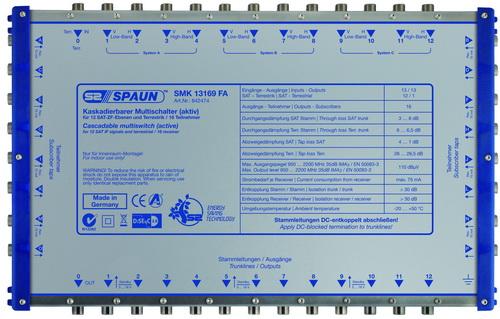 842474 SPAUN SMK13169FA Επέκταση ΕΝΕΡΓΗ για 3 Δορυφόρους + Επίγειο με 16 εξόδους