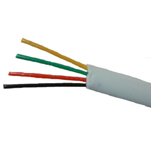 ANGA ST-T401 Καλώδιο τηλεφώνου πλακέ τετραπλό σε Λευκό χρώμα (100μ) CCA/PVC