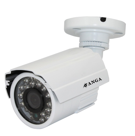 K����� ANGA AQ-2600SM 1/4 CMOS, Pixelplus PC7030K, ������ ��������, ����� 3.6mm, 600TVL, �R Led 5X24PCS, 20 �����, ��������� IP66, 12V, M��������, ����� �����: 400gr