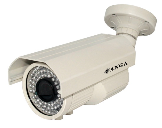 K����� ANGA AQ-2902SM 1/3 CMOS, Pixelplus PC1099, Varifocal ����� 2.8 - 12mm, 900TVL, ������ �������� �� IR-CUT, IR Led 5X72PCS, 55 �����, ��������� IP66, 12V ���������, ����� �����: 1570gr