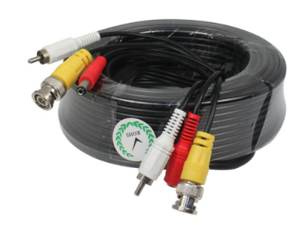 BNC Video + RCA(Audio) + DC Power 10mtr Μαυρο (Ετοιμο) με φίς Video BNC A/Α + DC (A/Θ)