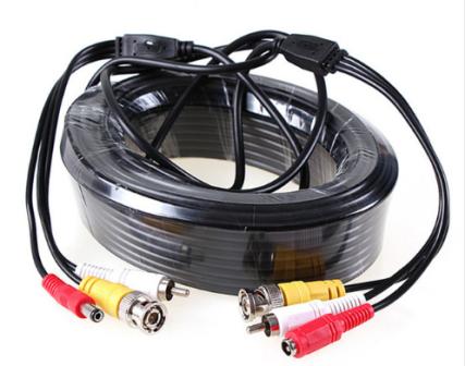 BNC Video + RCA(Audio) + DC Power 5mtr Μαυρο (Ετοιμο) με φίς Video BNC A/Α + DC (A/Θ)