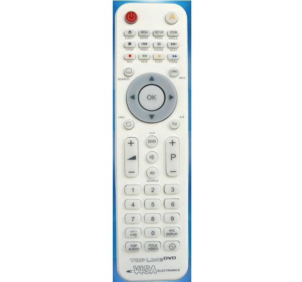 TOP LINE DVD NEW Προγραμματιζόμενο Τηλεχειριστήριο 1 συσκευής DVD μέσω PC & Χειροκίνητα