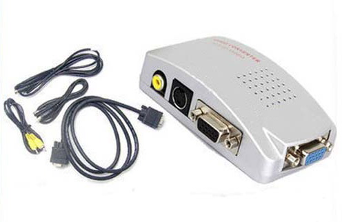 CVA-3002 VGA σε RCA & S-VIDEO ΜΕΤΑΤΡΟΠΕΑΣ Ιδανικό για να προβάλεται σήμα εικόνας από υπολογιστή σε τηλεόραση