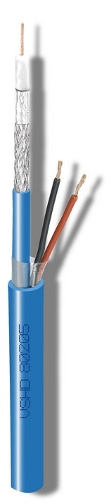 Καλώδιο CAVEL VSHD70205 (150μ) Διάμετρος : 8,30mm x 6,50mm (Ομοαξονικό Aγωγός : 0,70mm + 2x 0,50mm)