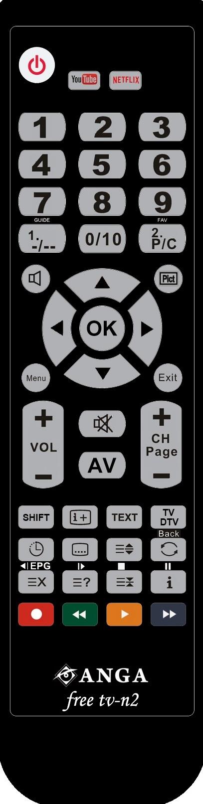 Free TV-N2 (Polybag) προγραμματιζόμενο με USB+IR Τηλεχειριστήριο ANGA