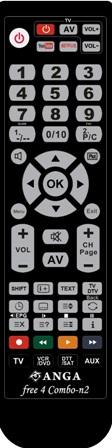ΝΕΟ!!!!Free4 Combo-N2 (Polybag) προγραμματιζόμενο με USB+IR Τηλεχειριστήριο ANGA
