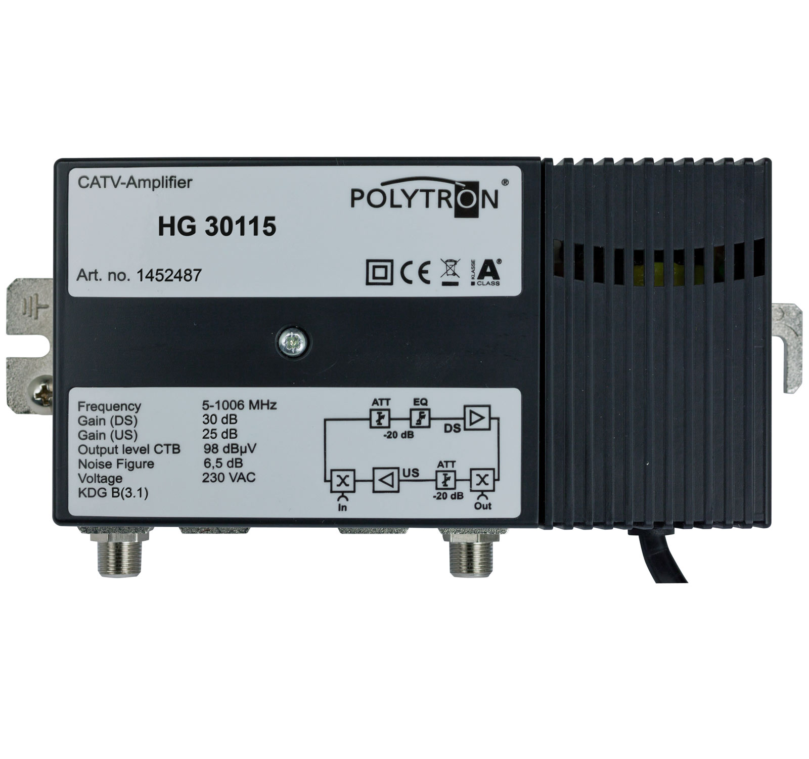 HG 30115 Κεντρικός Ενισχυτής 30dB,115dBμV,25dB POLYTRON