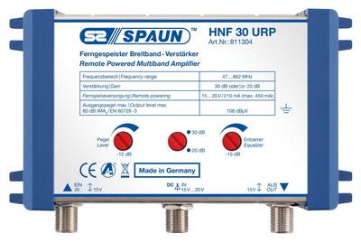 811304 SPAUN HNF30URP Κεντρικός Ενισχυτής Ενίσχυση 20 ή 30dB/108dBμV Συμβατός με επίγεια ψηφιακή