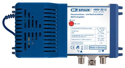 811273 SPAUN HNV20U Κεντρικός Ενισχυτής Ενίσχυση 10 ή 20dB/105dBμV Συμβατός με επίγεια ψηφιακή