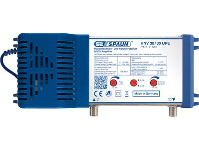 811267 SPAUN HNV30/30UPE Κεντρικός Ενισχυτής Ενίσχυση 20 ή 30dB/108dBμV με κανάλι επιστροφής 5-30MHz Συμβατός με επίγεια ψηφιακή