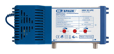 811269 SPAUN HNV30UPE Κεντρικός Ενισχυτής Ενίσχυση 20 ή 30dB/108dBμV Συμβατός με επίγεια ψηφιακή