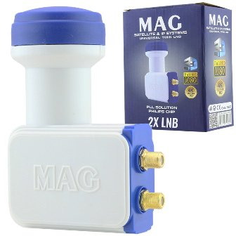 MAG TWIN LNB 15852 0.1dB 1080 FULL HD 4K