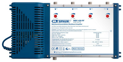 812118 SPAUN MBV429PF Κεντρικός Ενισχυτής με εισόδους BI - FM - BIII - UHF Ενίσχυση 30dB/114dBμV Συμβατός με επίγεια ψηφιακή