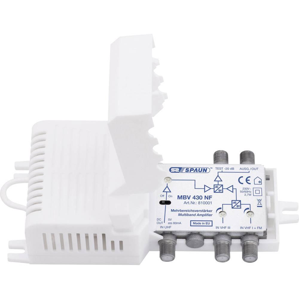 810010 MBV430NFI SPAUN Κεντρικός Ενισχυτής 35dB Ρυθμιζόμενος τριών εισόδων UHF-VHF III-VHF+FM.Συμβατός με επίγεια ψηφιακή