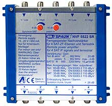 814219 SPAUN NVF5522SR Ενισχυτής επέκτασης 1 Δορυφόρου + Επίγειο