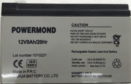 UPS Μπαταρία 12V 9,0AH Φαρδής πόλος POWERMOND  Επαναφορτιζόμενη Μολύβδου
