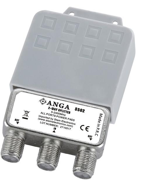 ANGA S502 Splitter 2 Εξόδων ιστού με αδιάβροχη θήκη