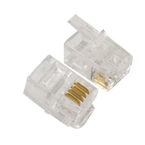 Φισάκι RJ9 4P4C για πλακέ καλώδιο ακουστικού τηλεφώνου