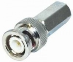 BNC αρσενικό ΒΙΔΩΤΟ για καλώδιο RG59 6mm