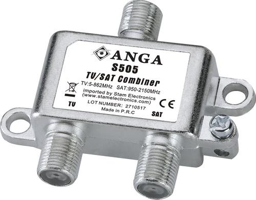 ANGA S505 Μίκτης - Διαχωριστής TV/SAT επιγείου και δορυφορικού σήματος για εσωτερικό χώρο ΑΜΦΙΔΡΟΜΟ