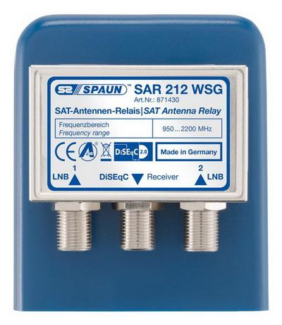 871430 SPAUN SAR212WSG DiSEqC 1/2 Δύο δορυφόροι μια έξοδος