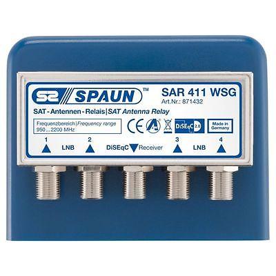 871432 SPAUN SAR411WSG DiSEqC 1/4 Τέσσερεις δορυφόροι μια έξοδος